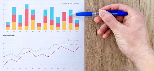 Checking analytics for search engine rankings and insights