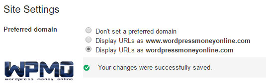 Higher rankings | Webmaster Tools - Site Settings 2