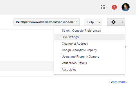 Higher rankings search console settings