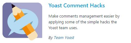 Yoast Comment Hacks plugin
